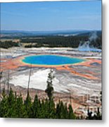 Grand Prismatic Spring From Above Metal Print