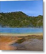 Grand Prismatic Spring In Yellowstone Panorama Metal Print