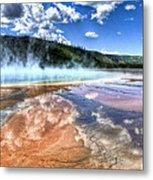 Grand Prismatic Spring - Yellowstone Metal Print