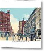 Grand Rapids - Michigan - Campau Square And Monroe Street - 1912 Metal Print