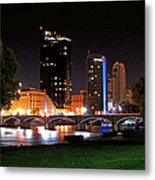 Grand Rapids Michigan At Dusk Metal Print