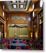 Grand Salon 02 Queen Mary Ocean Liner Metal Print