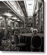 Grand Salon 05 Queen Mary Ocean Liner Bw Metal Print