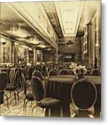 Grand Salon 05 Queen Mary Ocean Liner Heirloom Metal Print