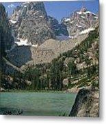 1m9387-v-grand Teton And Delta Lake - V Metal Print
