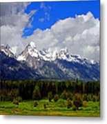 Grand Teton Mountains Metal Print