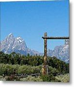 Grand Teton Ranch Metal Print