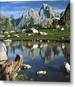 1m9374-grand Teton Reflect Metal Print