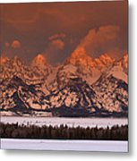 Grand Teton Winter Sunrise  Metal Print