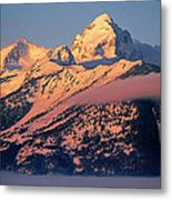 Grand Tetons In Winter Metal Print