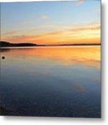 Grand Traverse Bay Sunset Metal Print
