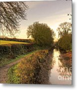 Grand Western Canal At Halberton  Metal Print