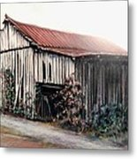 Grandaddy's Barn Metal Print by Melodye Whitaker