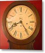 Grandfather Clock Top 1 Metal Print