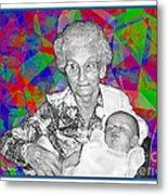 Grandma And Rose Metal Print