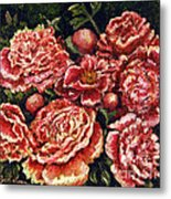 Grandma Lights Peonies Metal Print