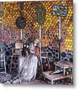 Grandma Prisbrey's Bottle Village In Simi Valley Metal Print