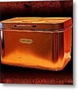 Grandma's Kitchen- Copper Breadbox Metal Print