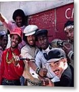 Grandmaster Flash And Furious Five In Nyc Metal Print