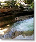 Granite Boulder And Sabbaday Brook Metal Print