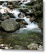 Granite Boulders In A River  Metal Print
