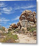 Granite Boulders In The Desert Metal Print