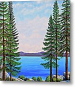 Granite Boulders Lake Tahoe Metal Print