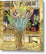 Granite Bouquet Vangogh Vision Metal Print