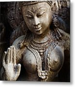 Granite Indian Goddess Metal Print by Tim Gainey