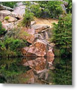 Granite Quarry And Reflections In The Missouri Ozarks Metal Print