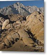 Granite Rock Formations, Alabama Hills Metal Print