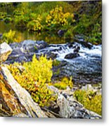 Granite Rocks Above The Cascading Feather River, Quincy California Metal Print