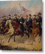 Grant And His Generals Metal Print