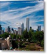 Grant Park Chicago Skyline Panoramic Metal Print