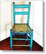 Granular Blue Metal Print