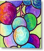 Grape De Chine Metal Print