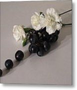 Grape Flavored Carnations Metal Print by Good Taste Art