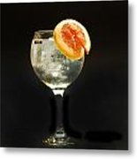 Grapefruit Gin Tonic Metal Print