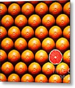 Grapefruit Slice Between Group Metal Print