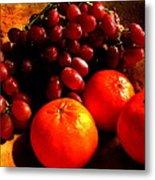 Grapes And Tangerines Metal Print