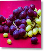 Grapes White And Red Metal Print