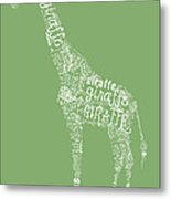 Graphic Giraffe Metal Print