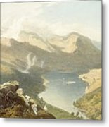 Grasmere From Langdale Fell, From The Metal Print