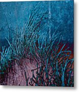 Grass Abstract Metal Print