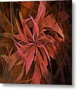 Grass Abstract - Fire Metal Print