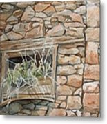 Grass In The Window Metal Print
