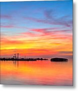 Grass Islands Of The Gulf Metal Print