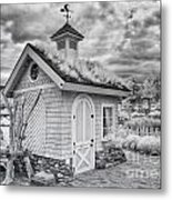 Grass Roof Shed Metal Print