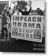 Grassroots Impeach Obama Movement Metal Print