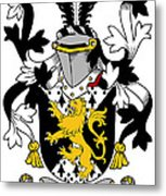 Grattan Coat Of Arms Irish Metal Print